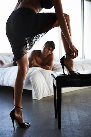 sexually aroused woman - Couple in Bedroom Stock Photo - Rights-Managed, Code: 700-00864689