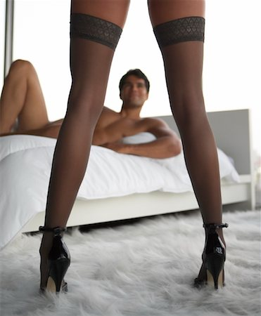 sexually aroused woman - Couple in Bedroom Stock Photo - Rights-Managed, Code: 700-00864694