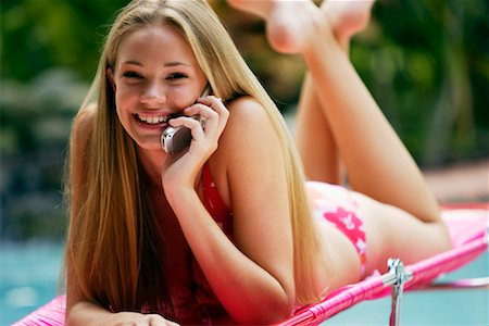 Girl Using Cellular Phone Stock Photo - Rights-Managed, Code: 700-00864843