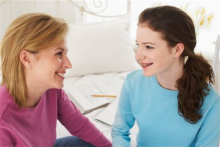 Mother and Daughter in Bedroom Stock Photo - Rights-Managed, Code: 700-00865151