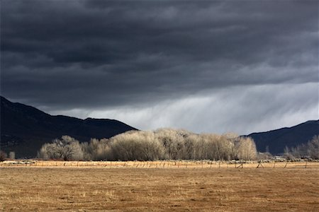 david zimmerman - Landscape and Storm Clouds, Taos, New Mexico, US Stock Photo - Rights-Managed, Code: 700-00866900