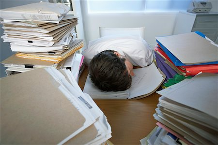 Businessman Sleeping at Desk Stock Photo - Rights-Managed, Code: 700-00909719