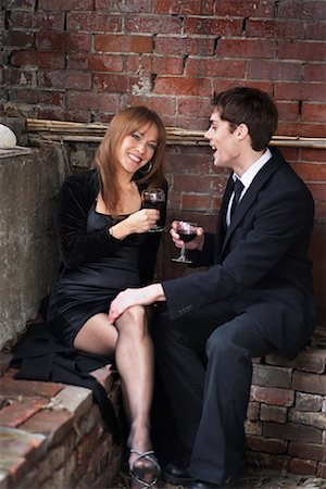 sexually aroused woman - Couple Drinking Wine Stock Photo - Rights-Managed, Code: 700-00917703