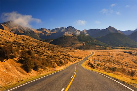 road landscape - Arthur's Pass, Craigieburn Range, South Island, New Zealand Stock Photo - Rights-Managed, Code: 700-00917906