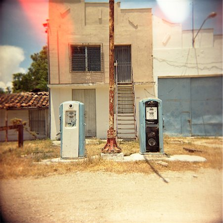 rural gas station - Gas Station, Cuba Stock Photo - Rights-Managed, Code: 700-00910326