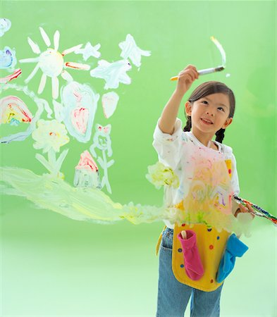 Girl Painting Stock Photo - Rights-Managed, Code: 700-00934155
