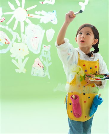 Girl Painting Stock Photo - Rights-Managed, Code: 700-00934156