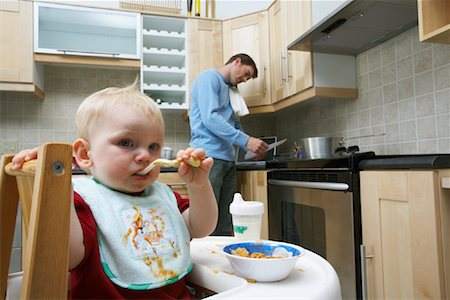 Father and Son in Kitchen Stock Photo - Rights-Managed, Code: 700-00934491