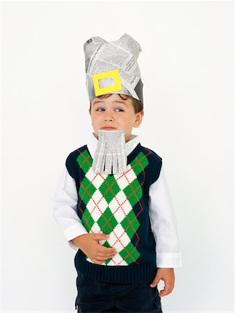 Boy Playing Dress-Up Stock Photo - Rights-Managed, Code: 700-00984286