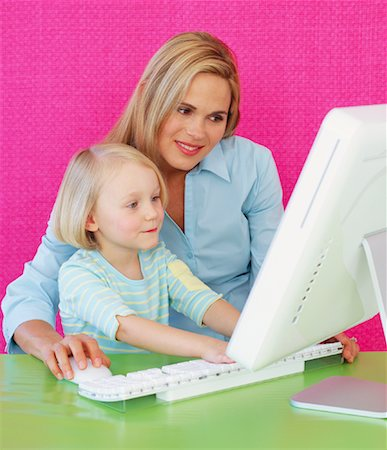 Mother and Daughter Using Computer Stock Photo - Rights-Managed, Code: 700-01015311