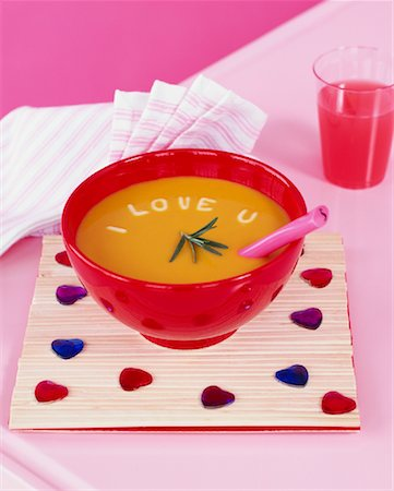 Bowl of Soup With Letters Stock Photo - Rights-Managed, Code: 700-01015321