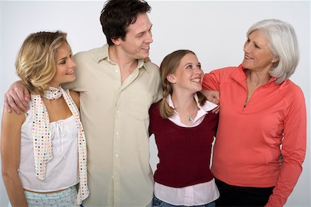 Portrait of Family Stock Photo - Rights-Managed, Code: 700-01042436