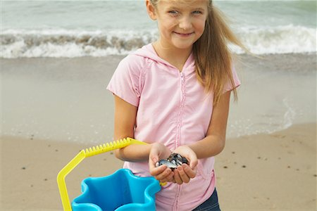Portrait of Girl at Beach Stock Photo - Rights-Managed, Code: 700-01042880