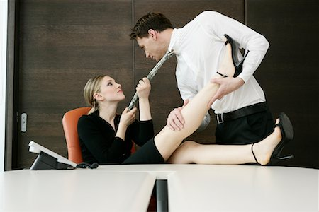 sexually aroused woman - Office Romance Stock Photo - Rights-Managed, Code: 700-01042988