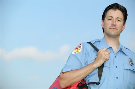 Portrait of Paramedic Stock Photo - Rights-Managed, Code: 700-01072426