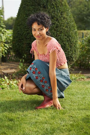 Portrait of Woman Outdoors Stock Photo - Rights-Managed, Code: 700-01073639