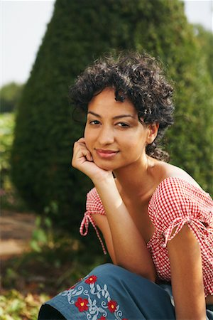 Portrait of Woman Outdoors Stock Photo - Rights-Managed, Code: 700-01073640