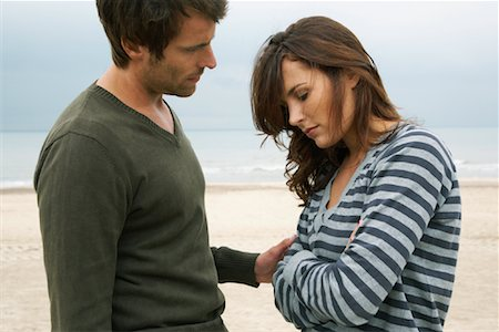 sad lovers break up - Man Consoling Woman on Beach Stock Photo - Rights-Managed, Code: 700-01082859