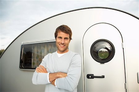 Portrait of Man in Front of Trailer Stock Photo - Rights-Managed, Code: 700-01082933