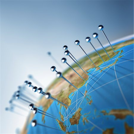 Globe and Pins Stock Photo - Rights-Managed, Code: 700-01083535