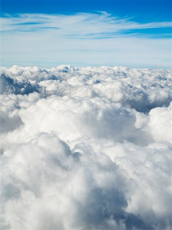 Aerial View of Puffy Clouds Stock Photo - Rights-Managed, Code: 700-01083909