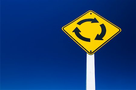 Roundabout Traffic Sign Stock Photo - Rights-Managed, Code: 700-01083925