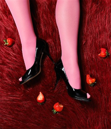 stocking feet - Close-Up of Woman's Legs Stock Photo - Rights-Managed, Code: 700-01109840