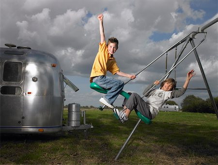Boys on Swing Stock Photo - Rights-Managed, Code: 700-01119864