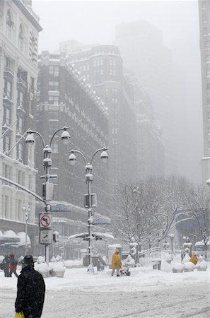 david zimmerman - Snowstorm, New York City, New York, USA Stock Photo - Rights-Managed, Code: 700-01110248