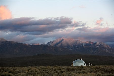 david zimmerman - Geodesic Dome & Sangre de Christo Mountains, Southern Rockies, Taos, New Mexico, USA Stock Photo - Rights-Managed, Code: 700-01110254