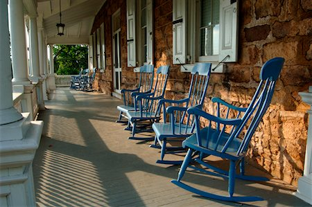 Rocking Chairs on Porch, Audubon House, Mill Grove, Pennsylvania, USA Stock Photo - Rights-Managed, Code: 700-01111718