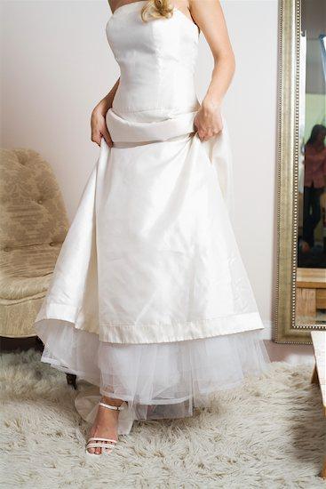 Close-Up of Woman Wearing Wedding Dress Stock Photo - Premium Rights-Managed, Artist: Hiep Vu, Image code: 700-01111874