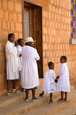 Woman and Girls outside of Church, Soatanana, Madagascar Stock Photo - Rights-Managed, Code: 700-01112715