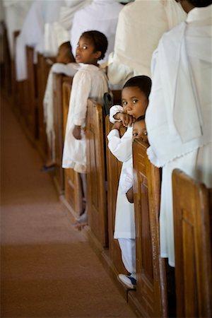 Children in Church Pews, Soatanana, Madagascar Stock Photo - Rights-Managed, Code: 700-01112726