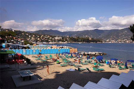 Private Beach on the Mediterranean Sea, Santa Margherita, Italy Stock Photo - Rights-Managed, Code: 700-01124389