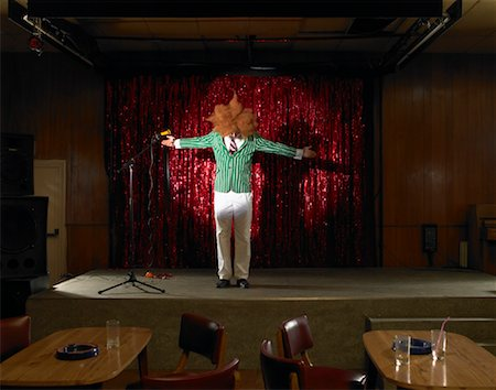 Comedian in Empty Nightclub Stock Photo - Rights-Managed, Code: 700-01120514
