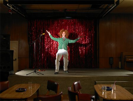Comedian in Empty Nightclub Stock Photo - Rights-Managed, Code: 700-01120515