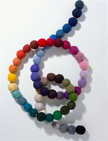 Rainbow Colored Beads on a String Stock Photo - Rights-Managed, Code: 700-01120603