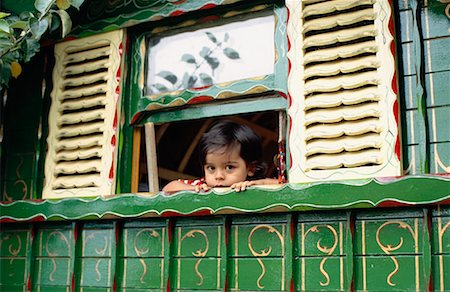 shy baby - Portrait of Toddler in Gypsy Caravan, Sussex, England Stock Photo - Rights-Managed, Code: 700-01120617