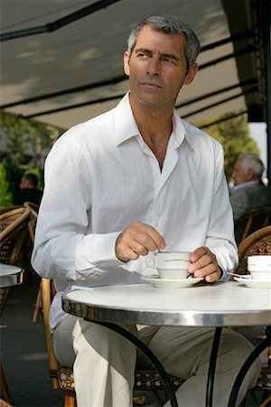 Portrait of Man in Outdoor Cafe Stock Photo - Rights-Managed, Code: 700-01173210