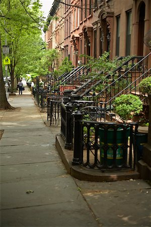 Brownstones, Brooklyn, New York, USA Stock Photo - Rights-Managed, Code: 700-01184796