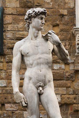 statue of david - Replica of Michaelangelo's David, Piazza Della Signoria, Florence, Tuscany, Italy Stock Photo - Rights-Managed, Code: 700-01185527