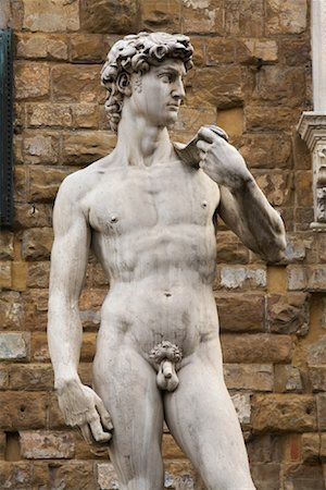 Replica of Michaelangelo's David, Piazza Della Signoria, Florence, Tuscany, Italy Stock Photo - Rights-Managed, Code: 700-01185527