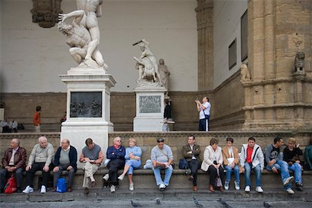 People Sitting at Piazza Della Signoria, Florence, Tuscany, Italy Stock Photo - Rights-Managed, Code: 700-01185535