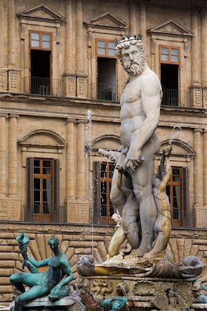 Neptune's Fountain, Piazza Della Signoria, Florence, Tuscany, Italy Stock Photo - Rights-Managed, Code: 700-01185530