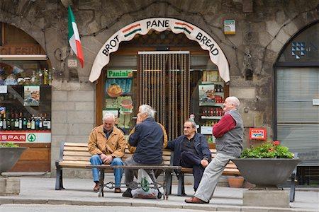 Men in Main Square, Cortona, Tuscany, Italy Stock Photo - Rights-Managed, Code: 700-01185608