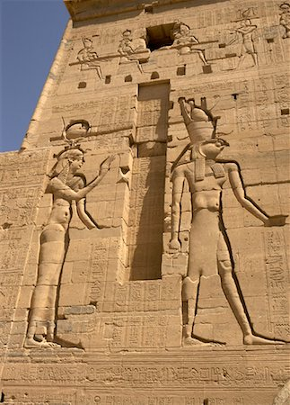 egyptian hieroglyphics - Hieroglyphics on Temple of Philae, Aswan, Egypt Stock Photo - Rights-Managed, Code: 700-01182734