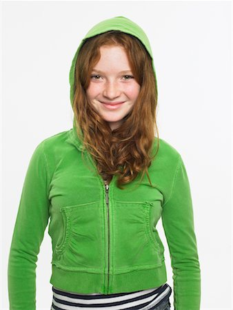 preteen  smile  one  alone - Portrait of Girl Stock Photo - Rights-Managed, Code: 700-01182776