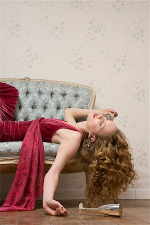 Woman Sleeping on Sofa Stock Photo - Rights-Managed, Code: 700-01183232