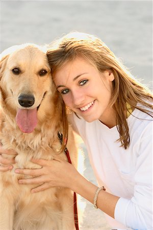 Portrait of Girl with Dog Stock Photo - Rights-Managed, Code: 700-01183754